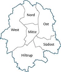 Aachen Karte Stadtteile.Muenster De Münster In Westfalen Stadtteile